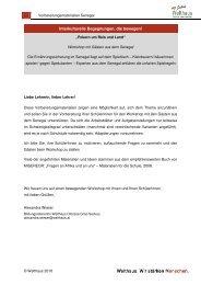 Vorbereitungsmaterialien Anleitung - Welthaus Graz