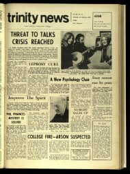 THEREAT TO TALKS CRISIS REACHED - Trinity News Archive