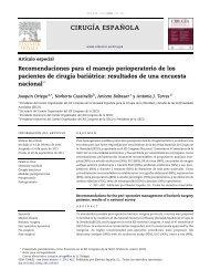 Recomendaciones para el manejo perioperatorio de los pacientes ...