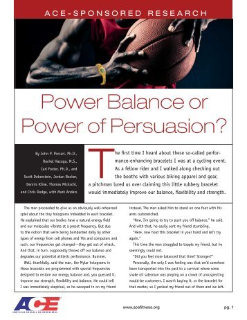 Power Balance or Power of Persuasion? - American Council on ...