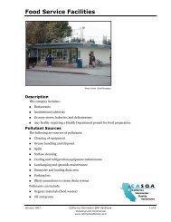 Food Service Facilities - Stormwater Best Management Practice ...