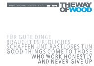 The Way Of Wood ® Katalog 2012