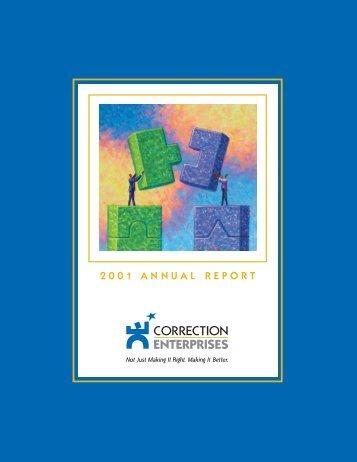annual report 2001.RA.qxd - Correction Enterprises
