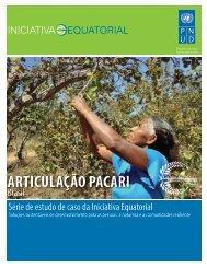ARTICULAÇÃO PACARI - Equator Initiative