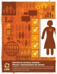 Mesurer l'autonomisation des femmes - Oonops