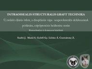 intraossealis structuralis graft technika - Debreceni Egyetem