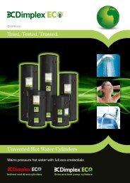 EC-EAU Hot Water Cylinder Leaflet - Dimplex