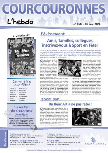 L'Hebdo n°408 - Courcouronnes