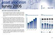 asset allocation survey 2006 - Irish Association of Pension Funds