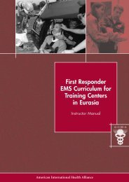 First Responder EMS Curriculum for Training Centers in Eurasia