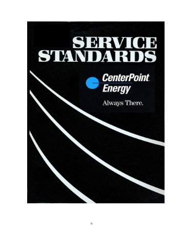 Electric Service Standards - CenterPoint Energy