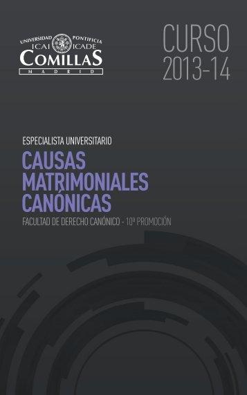 causas matrimoniales canónicas - Universidad Pontificia Comillas