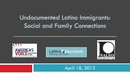 Undocumented Latino Immigrants: Social and ... - Latino Decisions