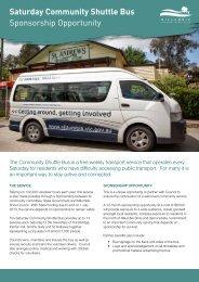 Saturday Community Shuttle Bus Sponsorship Opportunity
