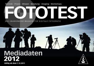 Mediadaten 2012 - FOTOTEST