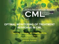 Optimal Monitoring of Treatment Response in CML - Educational ...