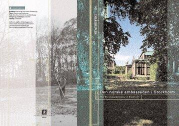 brosjyre om Den norske ambassaden i Stockholm - Statsbygg