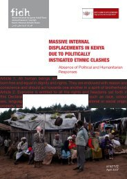 massive internal displacements in kenya due to politically ... - FIDH