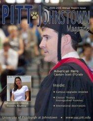 Pitt Johnstown Mag Summer 2010 ver4 - Pitt-Johnstown Home Page ...