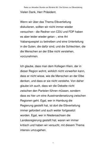 Rede zur Elbvertiefung am 22.02.2012 - Daniela Behrens
