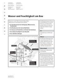 Wasser und Feuchtigkeit am Bau - Www3.datacomm.ch