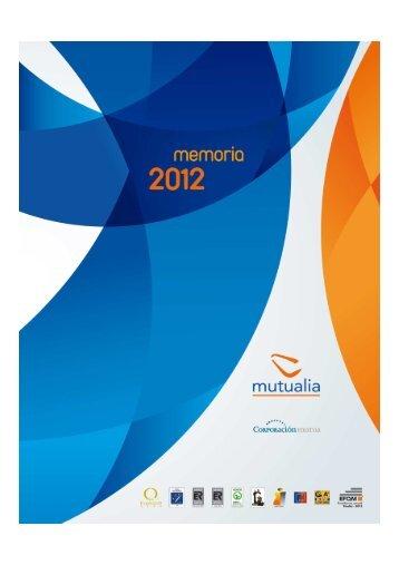 Memoria de actividades de Mutualia 2012 - Amat