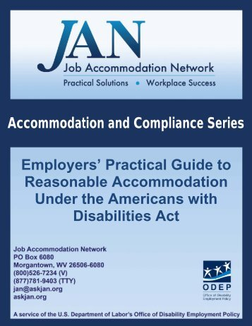 Employers' Practical Guide to Reasonable Accommodation Under the