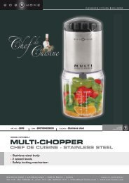 multi-chopper chef de cuisine - stainless steel - BOB HOME