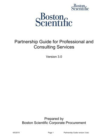 Partnership Guide for Professional and Consulting Services