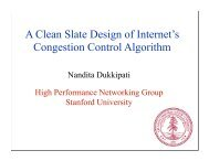 A Clean Slate Design of Internet's Congestion Control Algorithm