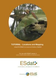 TUTORIAL - Locations and Mapping - ESdat