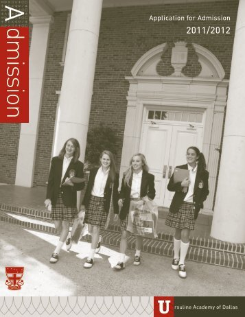 dmission - Ursuline Academy of Dallas