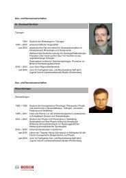 Geo- und Raumwissenschaften Dr. Christoph ... - Bosch-Career