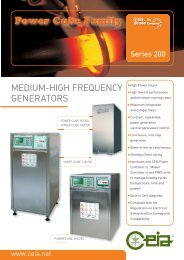 MEDIUM-HIGH FREQUENCY GENERATORS - Miyachi Europe