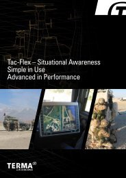 Tac-Flex – Situational Awareness Simple in Use Advanced ... - Terma