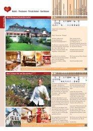 Hotels · Pensionen · Privatzimmer · Gasthäuser - Zeltingen-Rachtig