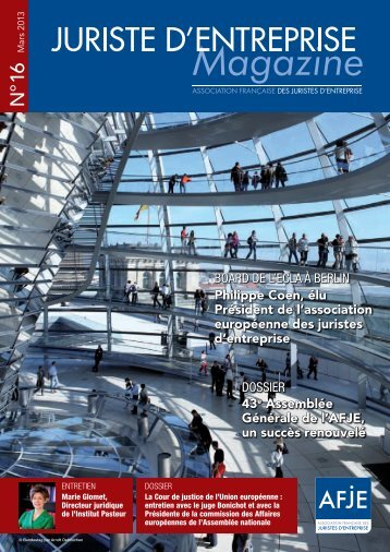 Téléchargez le magazine en format pdf en cliquant sur ce lien. - AFJE