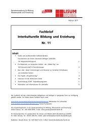 Fachbrief Interkulturelle Bildung und Erziehung Nr. 11