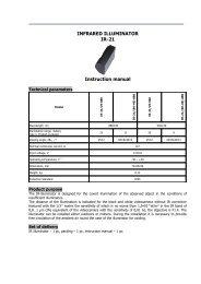 INFRARED ILLUMINATOR IR-21 Instruction manual - CBC CCTV