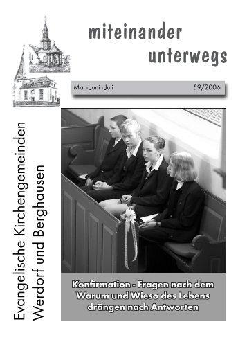konfirmandinnen und konfirmanden - Ev. Kirche Berghausen