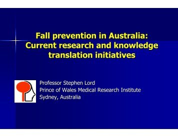 Fall prevention in Australia - The Centre for Hip Health and Mobility
