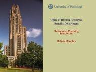 Medical Benefits Upon Retirement Presentation - Human Resources