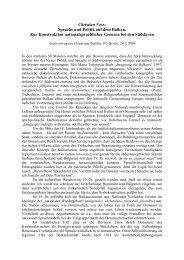 Christian Voss: Sprache und Politik auf dem Balkan. Zur - Userpage