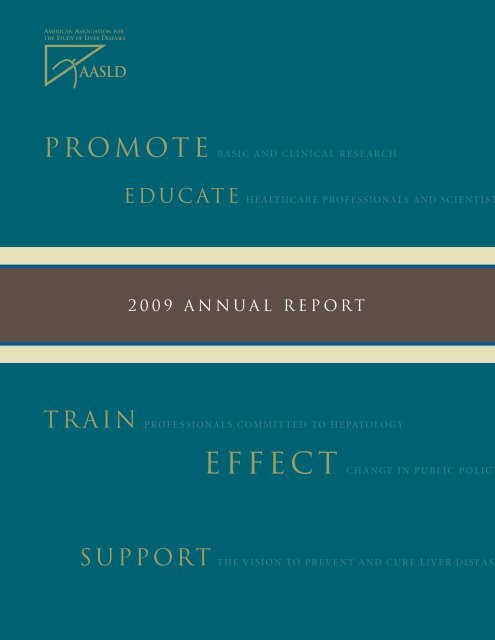 2009 ANNUAL REPORT - AASLD