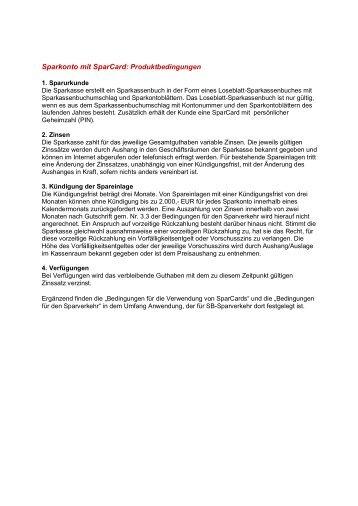 Produktbedingungen Sparkonto mit SparCard - Sparkasse Gifhorn ...