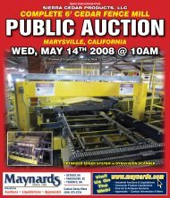 CEDAR FENCE MILL - Maynards Industries