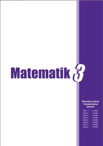 İlkokul Matematik Dersi Öğretim Programı Taslağı (3. Sınıf)