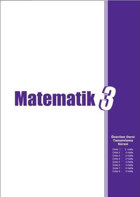 Ilkokul Matematik Dersi Ogretim Programi Taslagi 3 Sinif