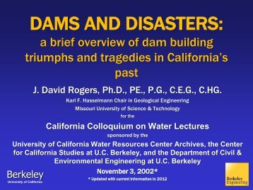 Dams and Disasters: A Brief Overview of Dam Building Triumphs