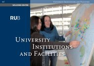 Universitiy Institutions and Facilities - International - Ruhr-Universität ...